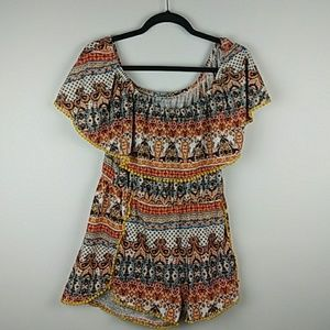 Aztec/Indian style patterned Romper